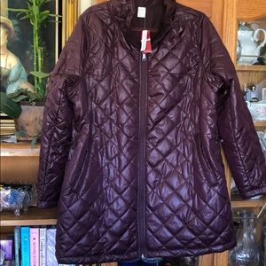 Reversible plus size puffer packable jacket